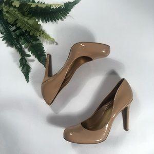 "Jessica Simpson Nude/Tan 4"" Leather Heels"